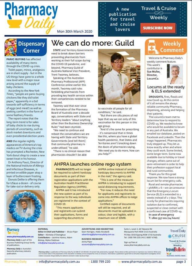 Pharmacy Daily 30032020